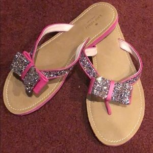 Kate Spade Bling and Pink Flip Flop s 10 NWOB